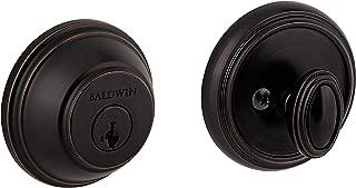 Baldwin Prestige 380 Round Single Cylinder Deadbolt Featuring SmartKey in Venetian Bronze