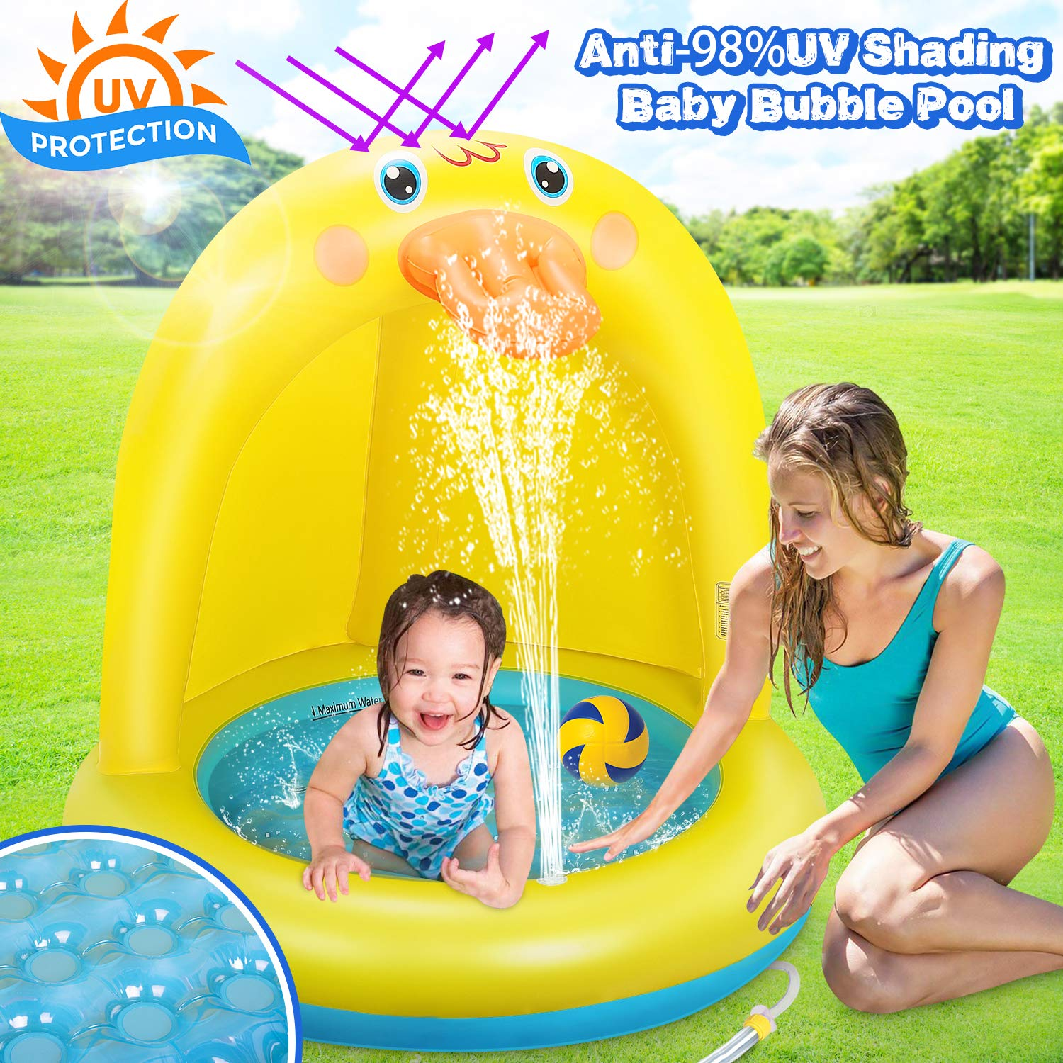 Dookey Piscina Inflable para Bebés, Hinchable Infantil, Pequeña ...
