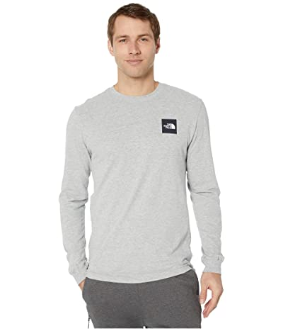 The North Face Long Sleeve Red Box T-Shirt (TNF Light Grey Heather 1) Men