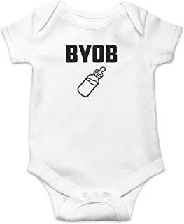 BYOB- Bring Your Own Bottle Cute Novelty Funny Infant One-Piece Baby Bodysuit
