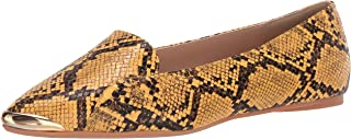 حذاء نسائي مسطح من Penny Loves Kenny, (Yellow Faux Snake), 40 EU