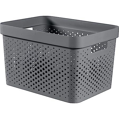 CURVER   Bac Infinity 17L , Gris Anthracite, 35,5 x 26,2 x 21,9 cm, Plastique recyclé