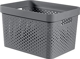 CURVER | Bac Infinity 17L , Gris Anthracite, 35,5 x 26,2 x 21,9 cm, Plastique recyclé
