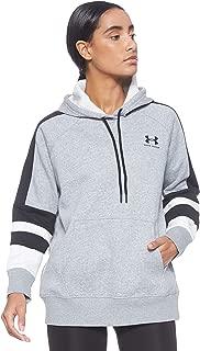Under Armour Women's Rival Fleece Lc Logo Hoodie Novelty Hoodie, Grey (Steel Medium Heather/Black), Medium