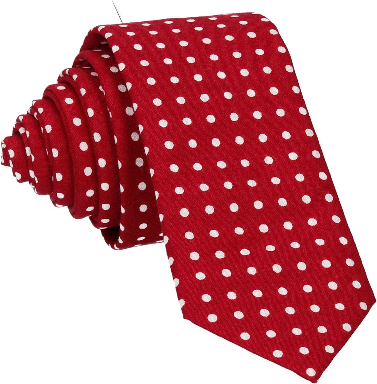 Mrs Bow Tie Dots Necktie, Standard Tie, Skinny Tie