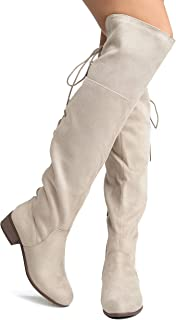 Best beige over knee boots outfit Reviews