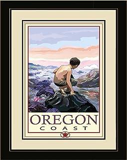 Northwest Art Mall JK-1687 LFGDM TP Oregon Coast Tide Pool Framed Wall Art by Artist Joanne Kollman, 20 x 26-Inch