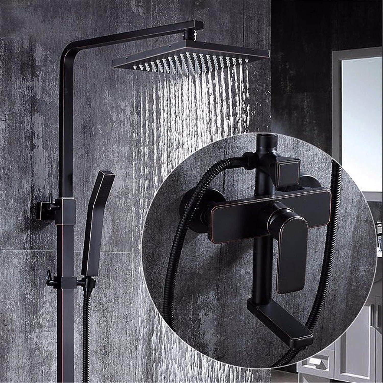 Shower taps set Black bronze antique shower, all copper European style shower taps, suit with lifting belt redation,A