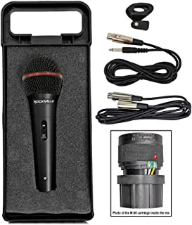 Rockville RMIC-SR Handheld DJ Vocal Recording Wired Microphone+Cables+Mic Case