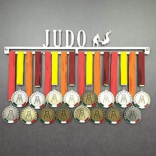 MEDALdisplay Judo - Medagliere da Parete - Porta medaglie Arti Marziali, Judoka - Sport Medal Hanger - Display Rack - Acci...