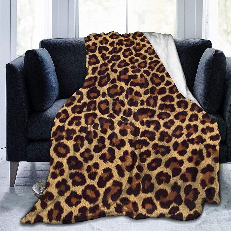 SARA Max 66% Omaha Mall OFF NELL Premium Weighted Cheetah Bl Throw Flannel Print Fleece