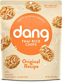 Dang Thai Rice Chips   Original   4 Pack   Vegan, Gluten Free, Non GMO Rice Crisps, Healthy Snacks Made with Whole Foods  ...