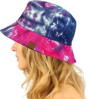 C.C Reversible Unisex 100% Cotton Packable Bucket Sun Beach Pool Fisherman Hat