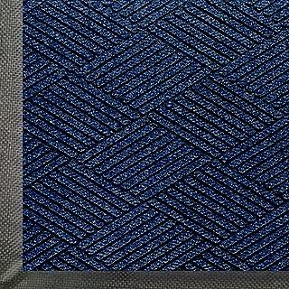 WaterHog Eco Premier | Commercial-Grade Entrance Mat with Diamond Pattern & Rubber Border | Indoor/Outdoor, Quick-Drying, Stain Resistant Door Mat (Indigo, 3x5)