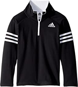 adidas Kids - Quarter Zip Pullover Top (Toddler/Little Kids)