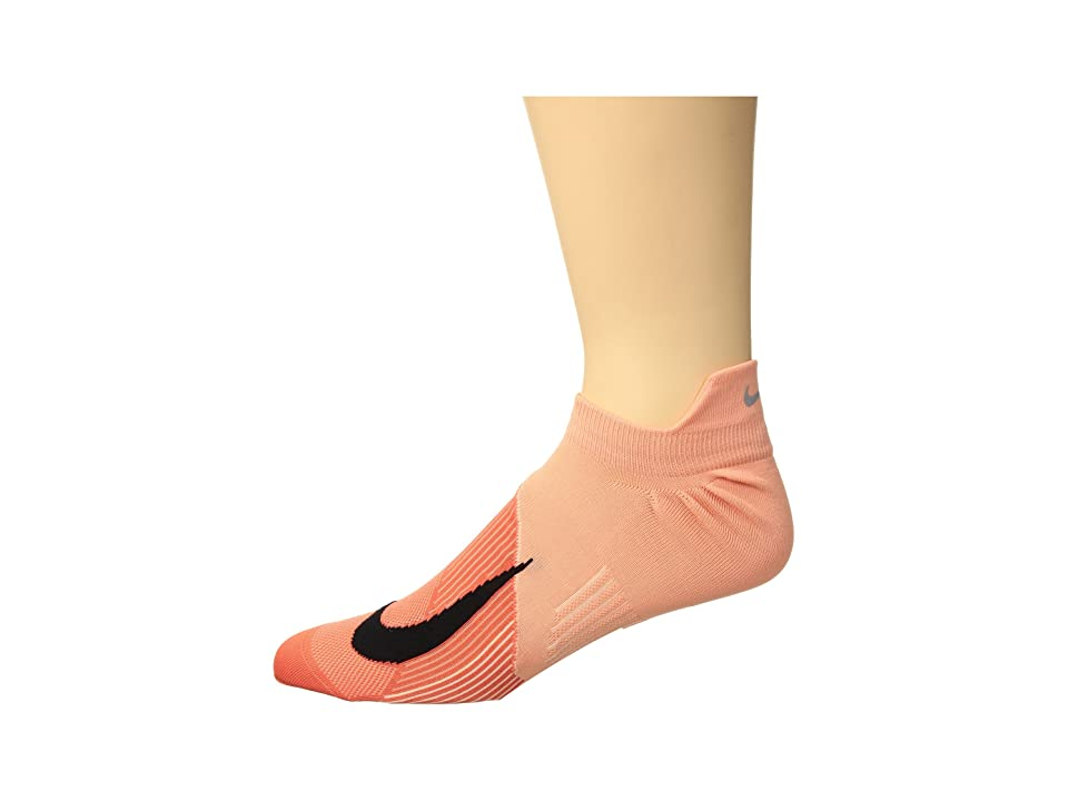 Nike Elite Lightweight Dri-Fit No Show Running Socks (Crimson Bliss/Black) No Show Socks Shoes
