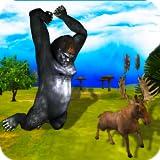 野生のゴリラシミュレータ究極の3D-致命的な怒っている獣のジャングル攻撃