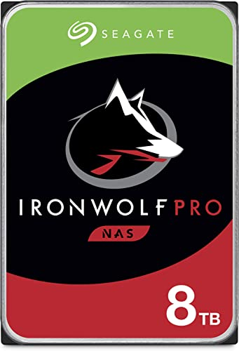 Seagate IronWolf Pro 8TB NAS Internal Hard Drive HDD – 3.5 Inch SATA 6Gb/s 7200 RPM 256MB Cache for RAID Network Atta...