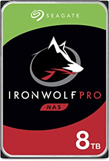 Seagate IronWolf Pro 8TB NAS Internal Hard Drive HDD – 3.5 Inch SATA 6Gb/s 7200 RPM 256MB Cache for RAID Network Attached ...