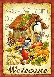 Toland Home Garden 112503 Autumn Birds 12.5 x 18 Inch Decorative, Garden Flag (12.5