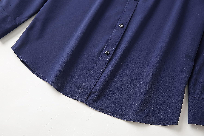 Business DP Non Iron Cotton Shirt Men's Business Slim Suit Blue Professional Long Sleeve