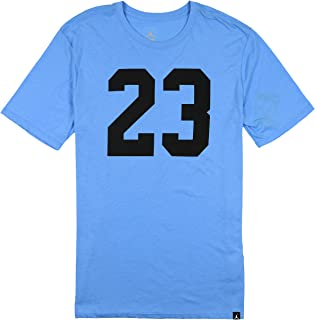 Jordan Men's Tri-Blend Iconic 23 T-Shirt Small University Blue