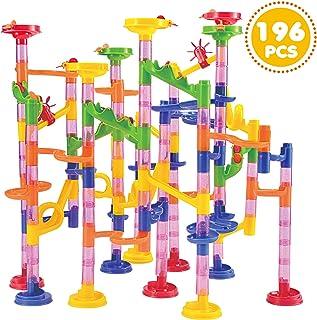 JOYIN 196 Pcs Marble Run Compact Set, Construction Building Blocks Toys, STEM Learning Toy, Educational Building Block Toy...