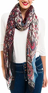 Scarf for Women Lightweight Paisley Fashion for Spring Winter Scarves Shawl Wrap