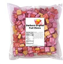 Starburst Original Fruit Chews 3 LB bag , Assorted Fruity Candy - Cherry, Strawberry, Lemon, Orange Flavored , Contains about 260 pieces bulk candy individually wrapped