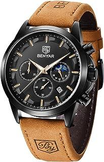Reloj para Hombre Sports Casual Acero Inoxidable Fecha analógica Diseñador Cronógrafo Resistente al Agua Reloj de Cuarzo para Hombre