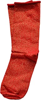 Women's Metallic Roll Top Sock