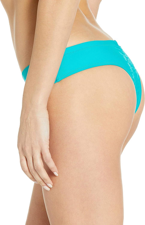 Volcom Womens Simply Solid Cheeky Swimsuit Bikini Bottom