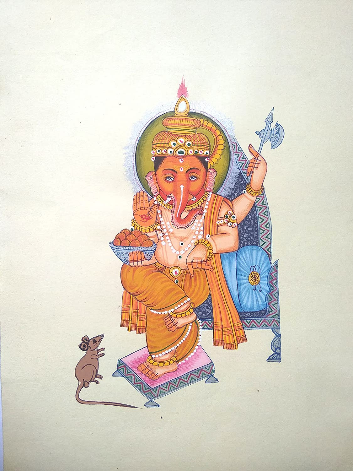 Popular brand in the world Indian Lord Ganesha Painting Religious Ranking TOP1 Handmade Miniature Handcr
