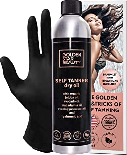 Self Tanner – Sunless Tanning Oil, Organic Spray Tan w/Hyaluronic Acid and Latex..