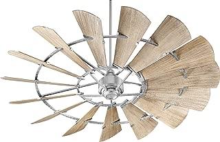Quorum 97215-9 Protruding Mount, 15 Weathered Oak Blades Ceiling fan, Galvanized