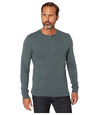Threads 4 Thought Tri-Blend Long Sleeved Henley (Gunmetal) Men