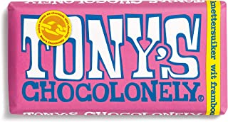 Fairtrade White Chocolate with Raspberry and Poprocks | Tony's Chocolonely | White 28% Raspberry Crunchy Sugar | Total Wei...