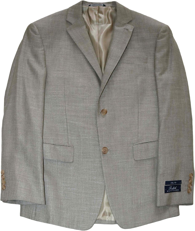 Ralph Lauren Men's Suit Jacket Beige Blazer, 40 Short