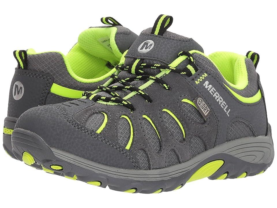 Merrell Kids Chameleon Low Lace Waterproof (Little Kid) (Grey/Citron) Boys Shoes
