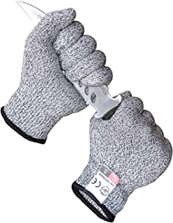 Cut Resistant Gloves Food Grade - Safety Large Size Gloves for Yard-work, Repairing and Most Kitchen Cutting, Slicing(XL 1pair)