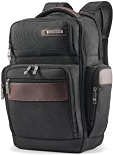 "Samsonite Kombi 17"" Square Backpack, Black/Brown, 43 92312-1051"