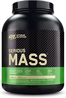 Sponsored Ad - Optimum Nutrition Serious Mass Weight Gainer Protein Powder, Vitamin C, Zinc and Vitamin D for Immune Suppo...