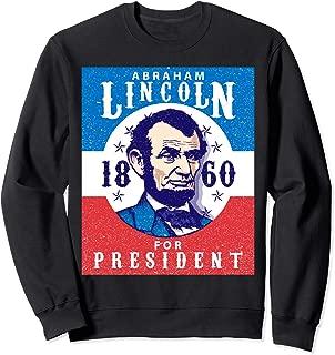 4th of July Drinking Like Lincoln Merica Flag Men Abraham Sweatshirt