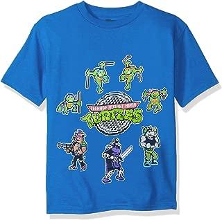 Teenage Mutant Ninja Turtles Big Boys Pixelated Characters Short Sleeve T-Shirt