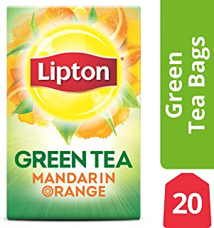Lipton Green Tea Bags, Mandarin Orange, 20 ct