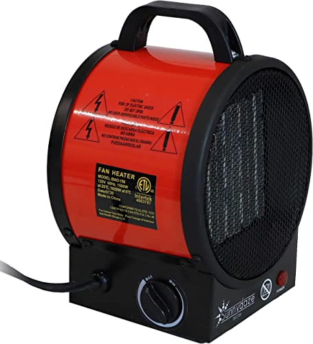 discount Sunnydaze Portable Ceramic Electric Space Heater - Indoor outlet sale Use for Home and Office - Small Personal Heating Appliance with Auto Shut-Off online Safety Feature - 1500W/750W outlet sale