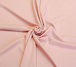 4 Way Stretch Solid Color Melon Peach Nude Liverpool Crepe Fabric