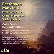 Beethoven : Messe en do - L'Ode à la Joie. Matthews, Mingardo, Ainsley, Finley, Haitink.