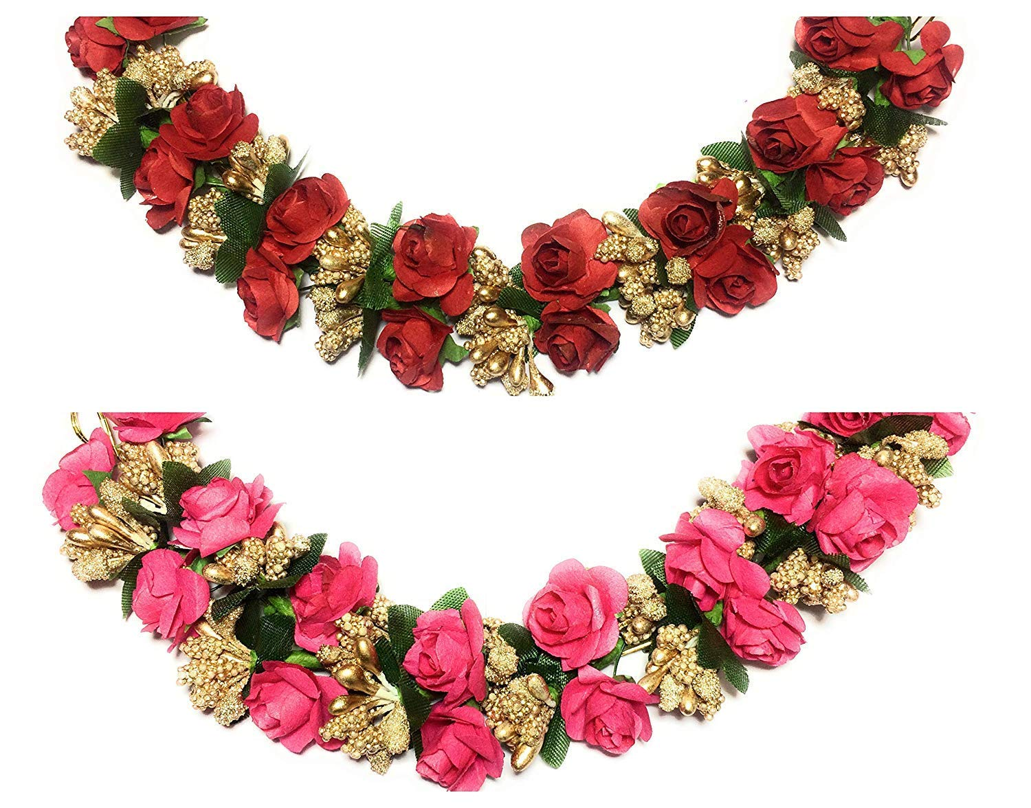 Buy Aatira Hair Gajra For Women Latest Artificial Flower Hair Gajra Bridal Hair Bun Gajra For Women Set Of 2 Online At Low Prices In India Amazon In