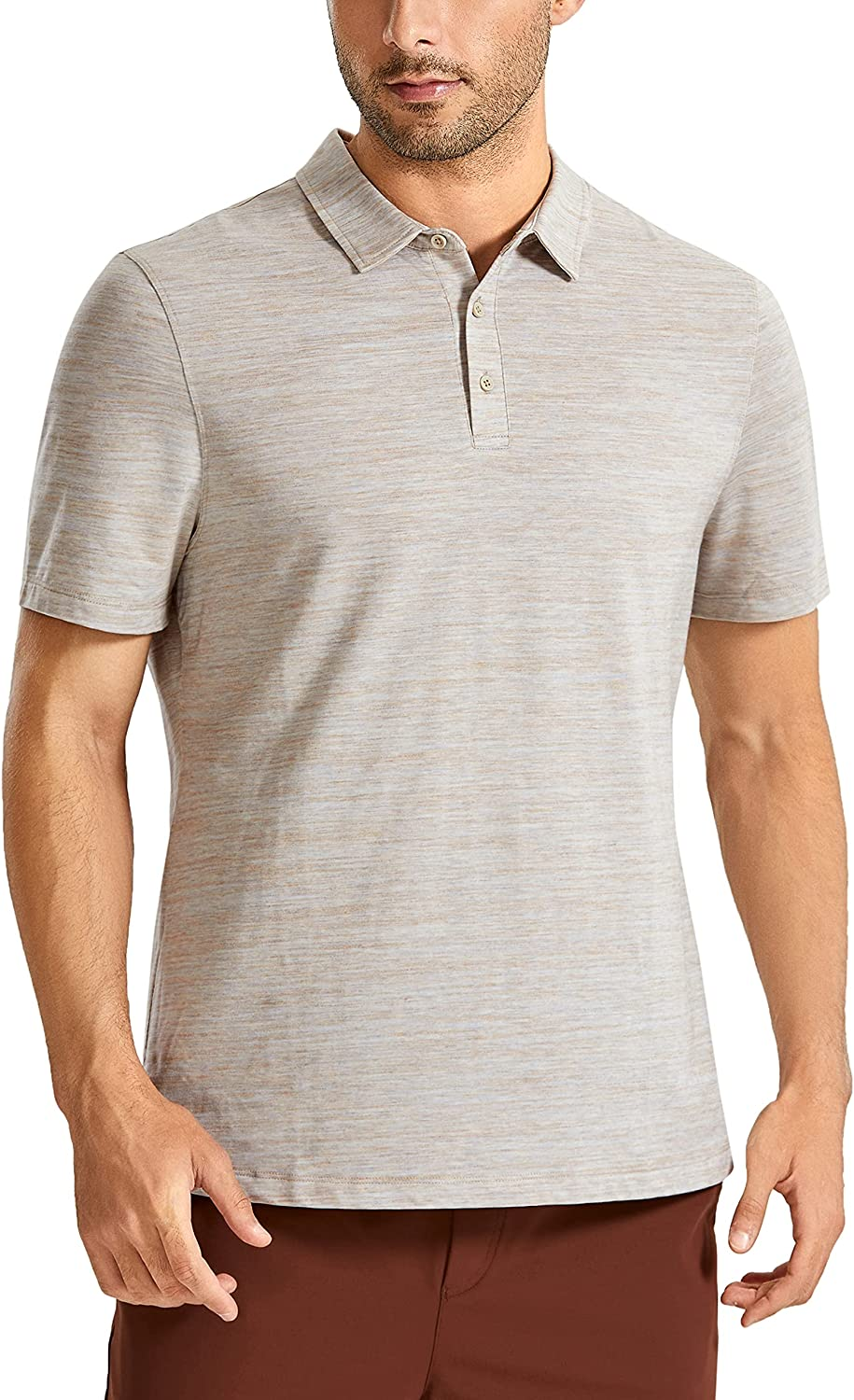 CRZ Ranking TOP13 YOGA Men's Short Sleeve Golf Polo Shirts Athletic Max 42% OFF Dry Fit T-